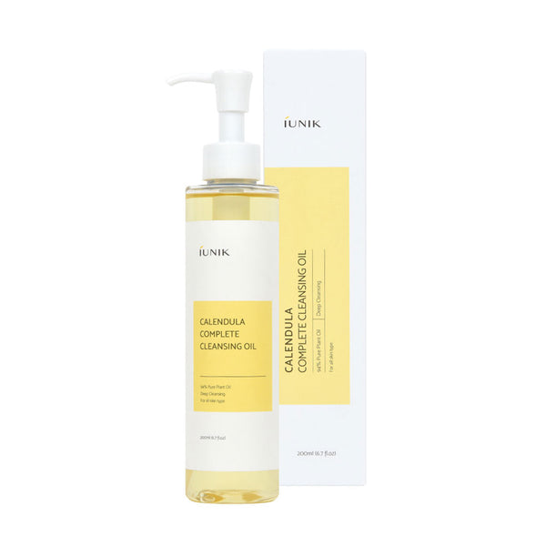 IUNIK Calendula Complete Cleansing Oil Nudie Glow Korean Beauty Australia