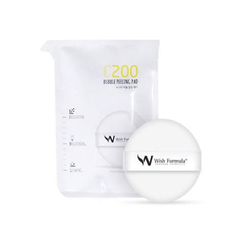 Wish Formula C200 bubble peeling pad. Best Korean beauty curated by Nudie Glow in Australia