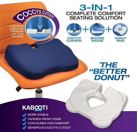 Contour Kabooti Orthopedic Coccyx Seat Cushion