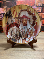 Chief of the Piegon Blackfoot Collectible Plate - Franklin Mint  Limited Edition The American Indian Heritage Foundation Museum