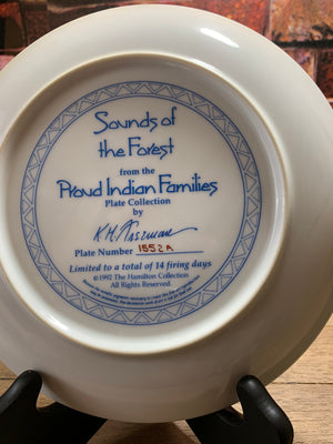 Sounds of the Forest Proud Indian Families -The Hamilton Collection 1992