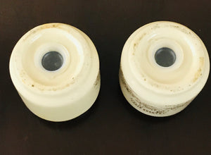 "Vintage Ceramic Pottery ""Kansas City"" Novelty Salt & Pepper Shakers Glazed Finish - 1960's"