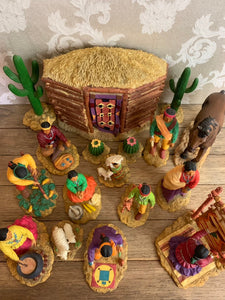 ArtAffects, Ltd - Village of the Sun 17pc Sculptured Figurines Collection Handcrafted  by Gregory Perillo - Vintage 1992 - RARE