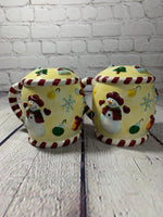 Large Vintage Ceramic Christmas Candy Cane Mug Salt & Pepper Shakers-Cooks Club 1990's