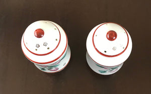 Vintage Ceramic Hand-Painted Strawberry Salt & Pepper Shakers Glazed Finish - Japan-1970's