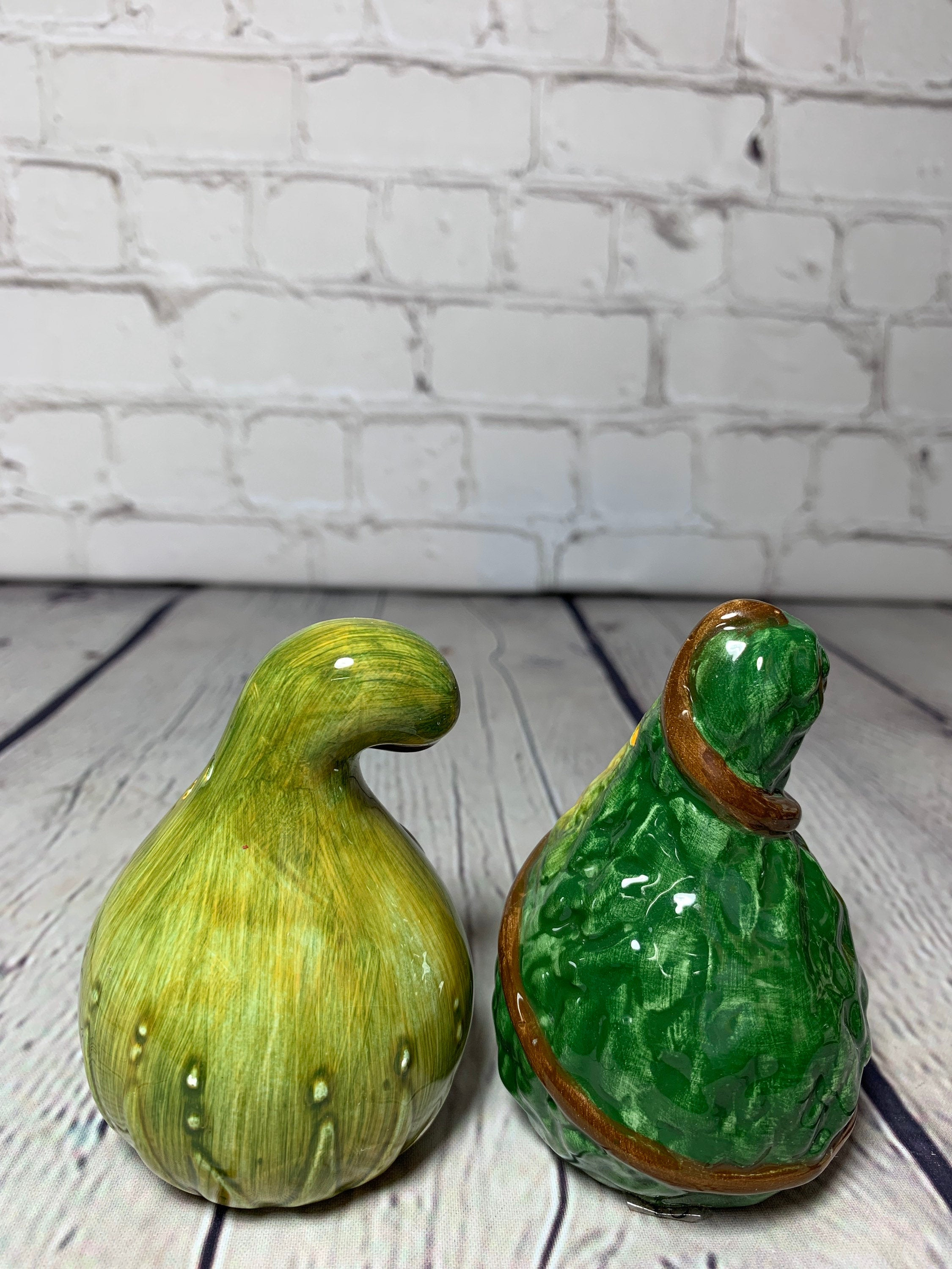 Vintage Ceramic Squash Salt & Pepper Shakers- Cooks Club