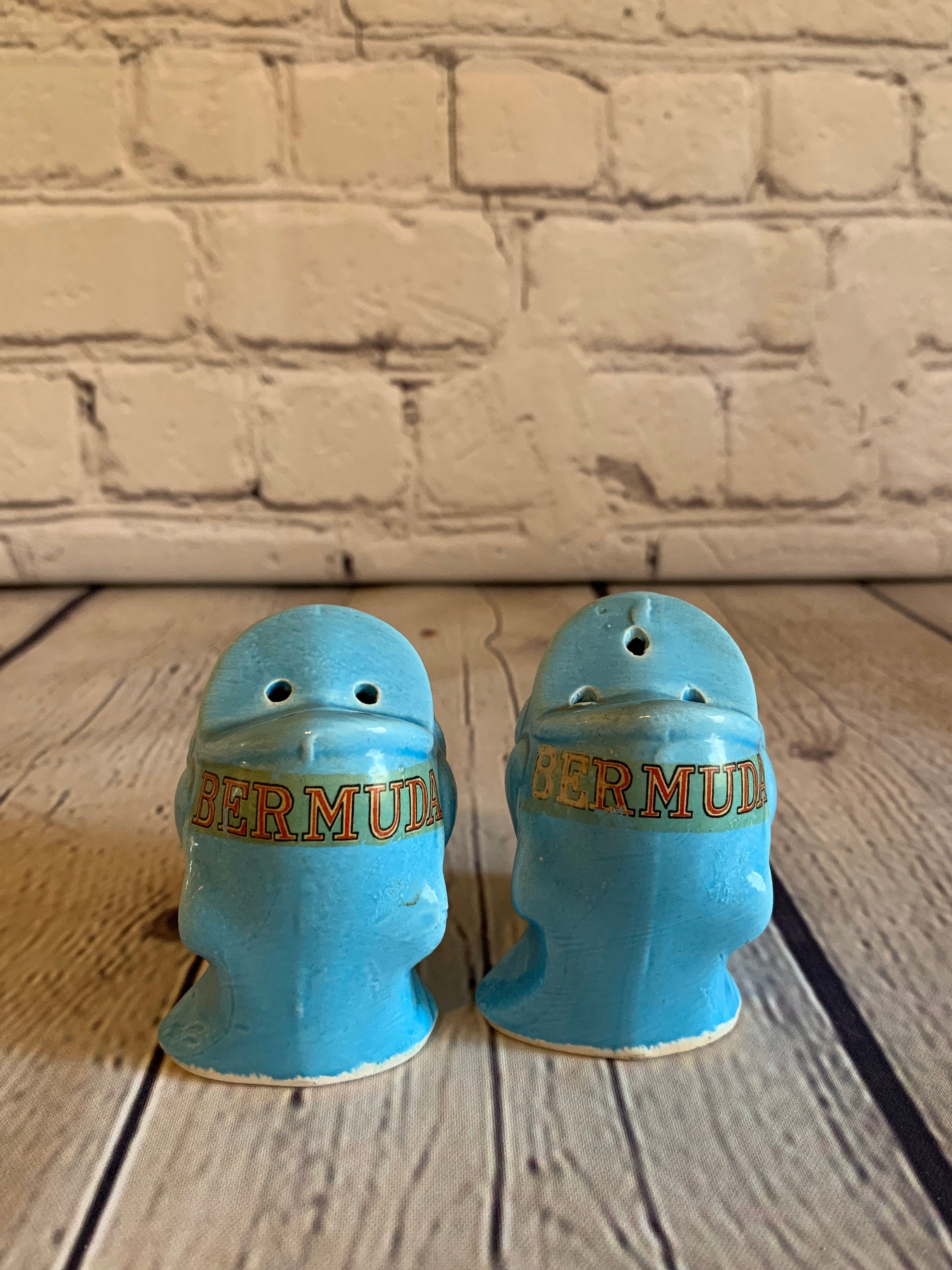 Vintage Ceramic Bermuda Fish Salt & Pepper Shakers - 1960's
