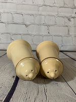 Vintage Glazed Ceramic Stein Salt & Pepper Shakers-Large-Pfaltzgraff