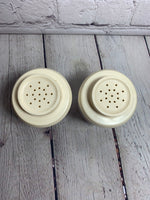 Vintage Pyrex and Admiration Plastic USA made Salt & Pepper Shakers