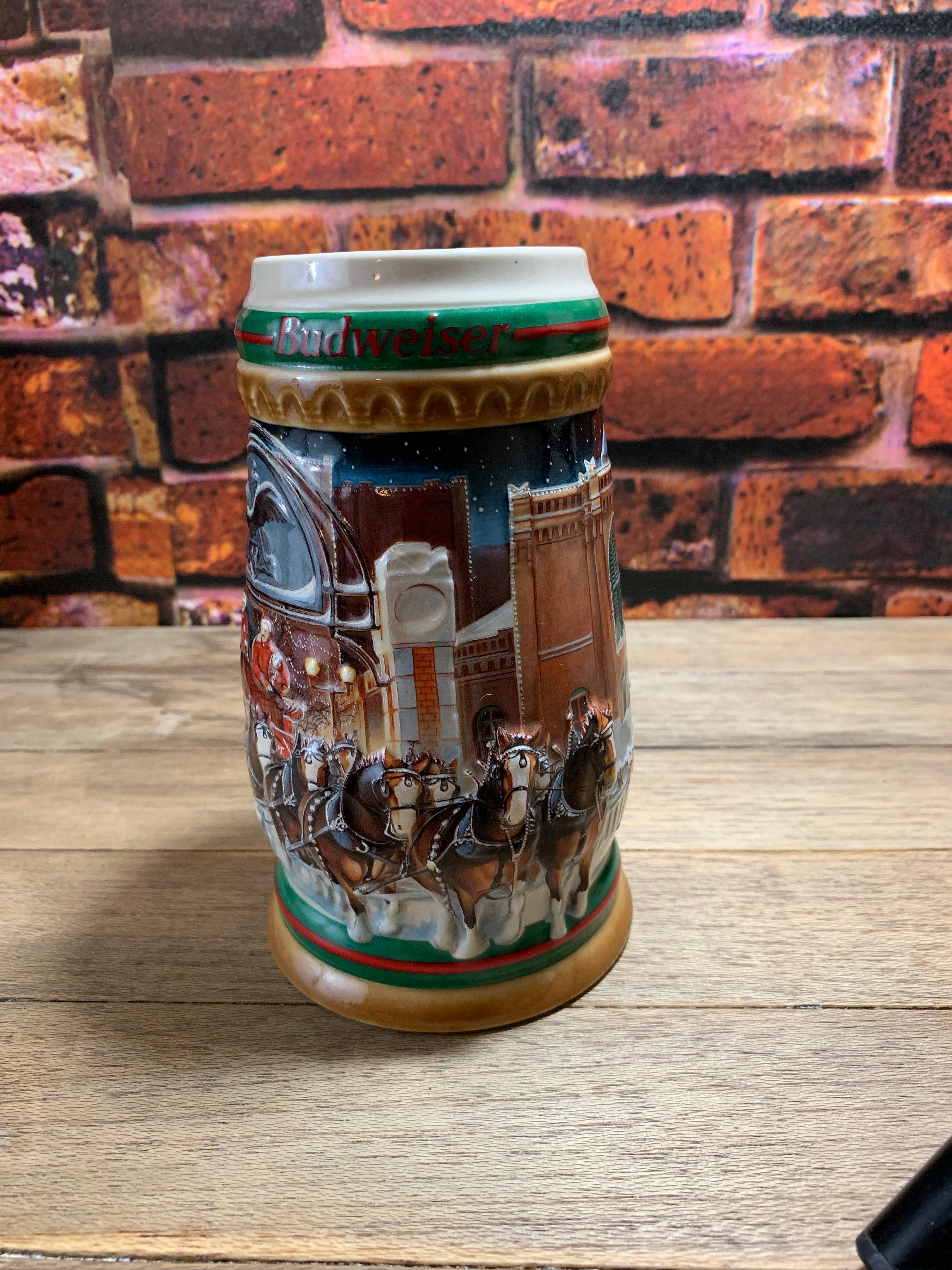 Vintage Budweiser Anheuser-Busch Home for the Holiday's Stein 1997