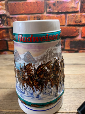 Vintage Budweiser Anheuser-Busch Special Delivery Holiday Collection Stein 1993