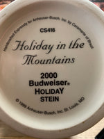 Vintage Budweiser Anheuser-Busch Holiday in the Mountains Holiday Stein 2000