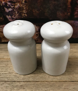 Vintage Ceramic Pottery Milk Jug Salt & Pepper Shaker Set - 1960's