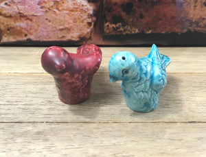 Vintage Pottery Birds Salt & Pepper Shakers-1950's