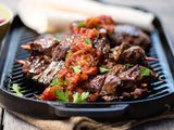 Kangaroo Kebabs with Cold Smoked Tomatoes