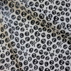 Halloween White Polycotton Fabric with Black Skulls (Per Metre)