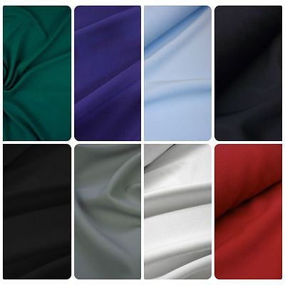 150cm wide Navy Polyester Suiting Fabric