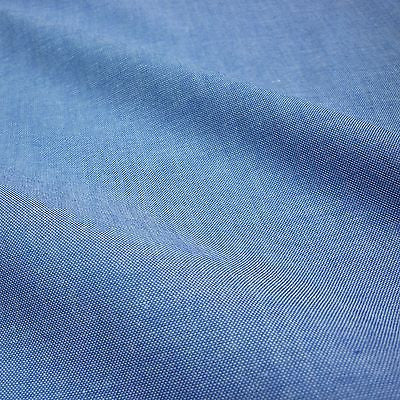 Blue Denim Look 100% Cotton Chambray Fabric  (Per Metre)