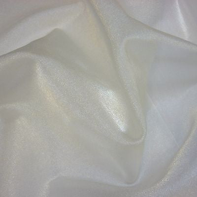 Ivory Crystal Organza Fabric (Per Metre)