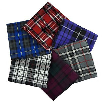 Poly Viscose Tartan Fabric Fat Quarter Bundle - Design 2