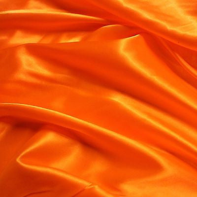 Plain Orange Budget Satin Fabric (Per Metre)