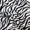 Soft Black & White Zebra Stripe Anti Pill Polar Fleece Fabric (Per Metre)
