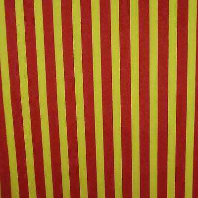 Red & Yellow 13mm Stripe Polycotton (Per Metre)