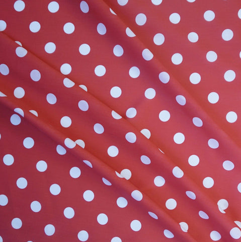 Per Metre Red Polycotton Fabric w// Funky Reindeer /& Gold Star Snowflake Print