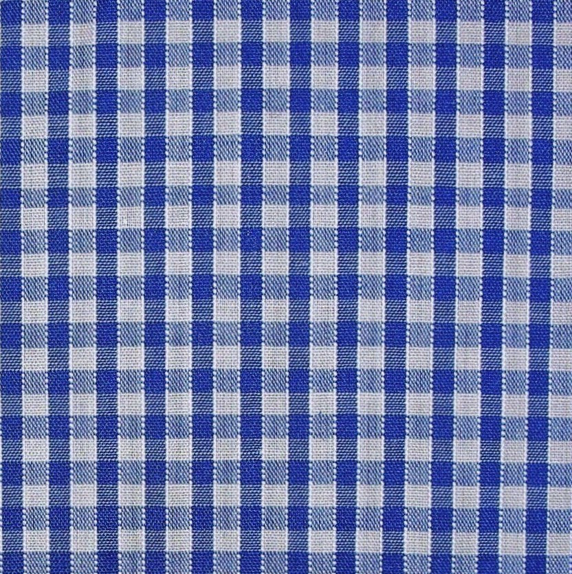 Polycotton Corded Gingham Fabric - 3 Sizes - 16 Colours (Per Metre)