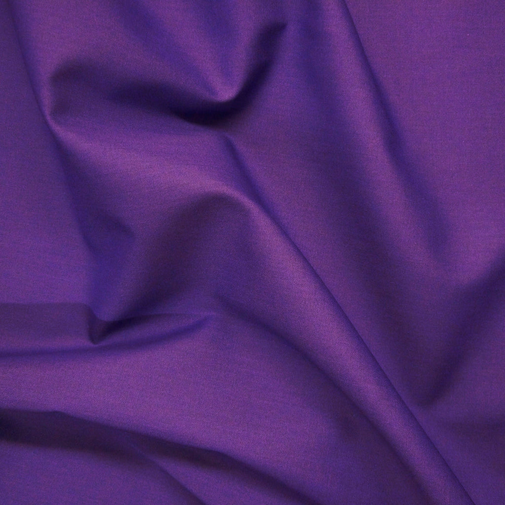 Plain Dyed Poplin Quality Polycotton Fabric - Various Colours - 2 Widths (Per Metre)