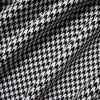 Black & White Woven Houndstooth Polyester Suiting Fabric - 2 Sizes (Per Metre)