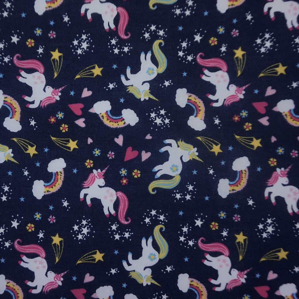 Children's Unicorn and Rainbow Polycotton-2 Colours