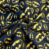 Black 100% Cotton Fabric with Batman logo (Per Metre)