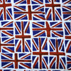 White polycotton printed red blue Union Jack flags (Per Metre)