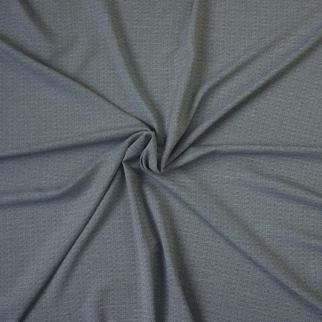 Dobby Suiting Light Blue with Navy Weave (Per Metre)