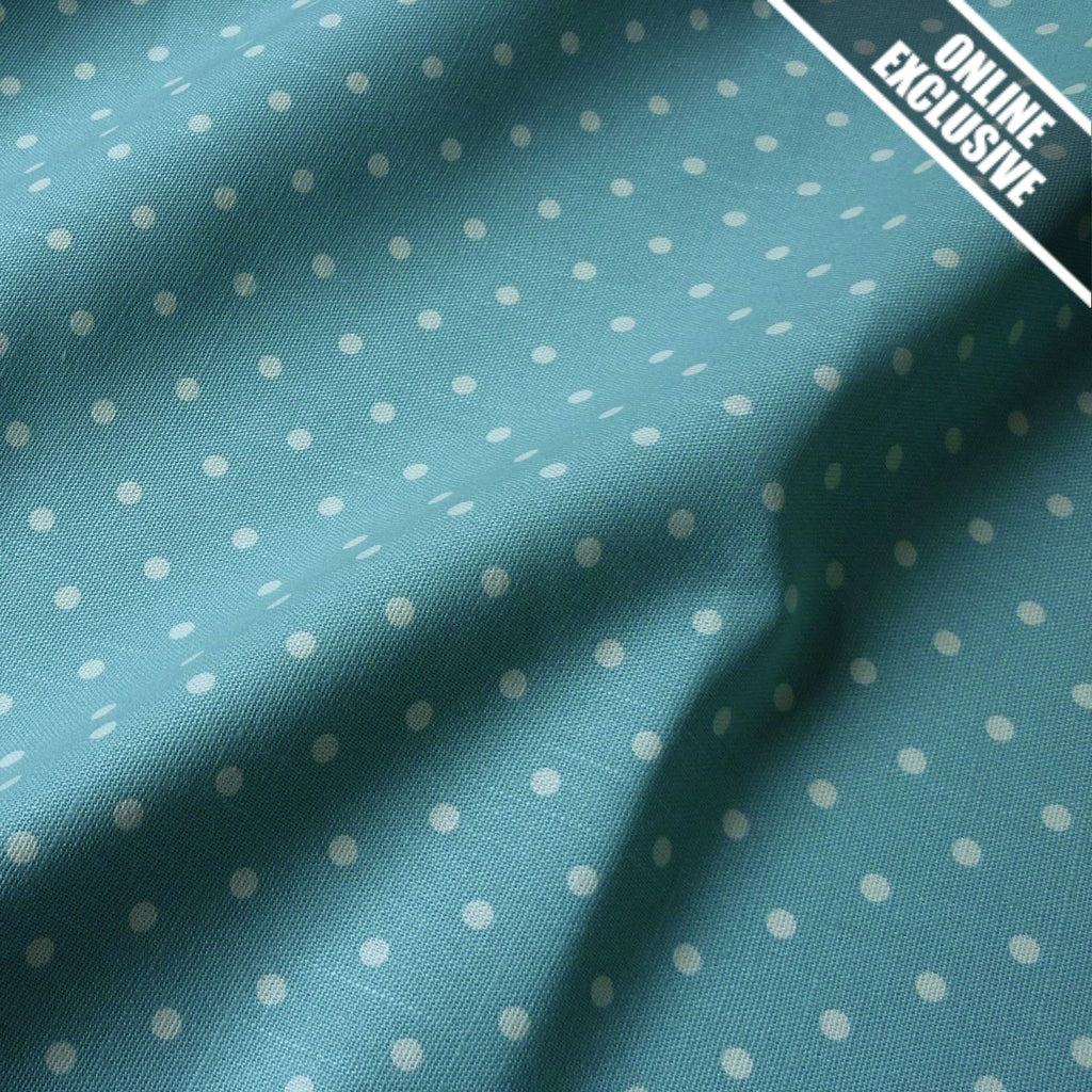 Cottage Collection Linen Look 100% Cotton Fabric 4mm Cream Spot (Per Metre)