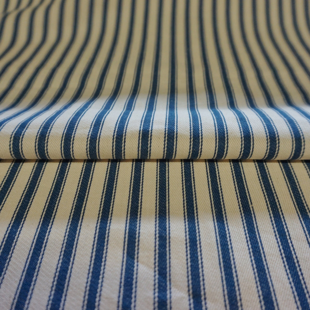 Ticking Stripe Dyed 100% Cotton Fabric - Various Colours (Per Metre)