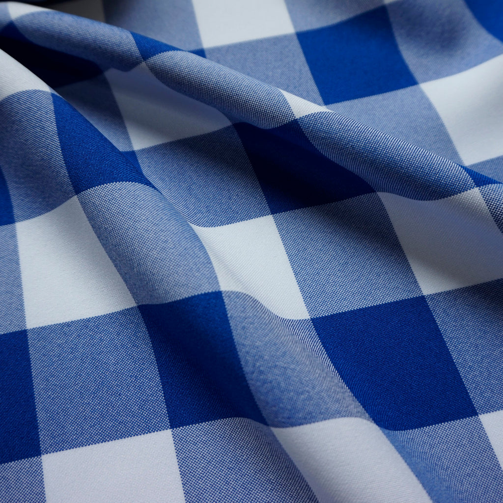 Polyester Gingham Fabric - 2 Sizes - Various Colours (Per Metre)