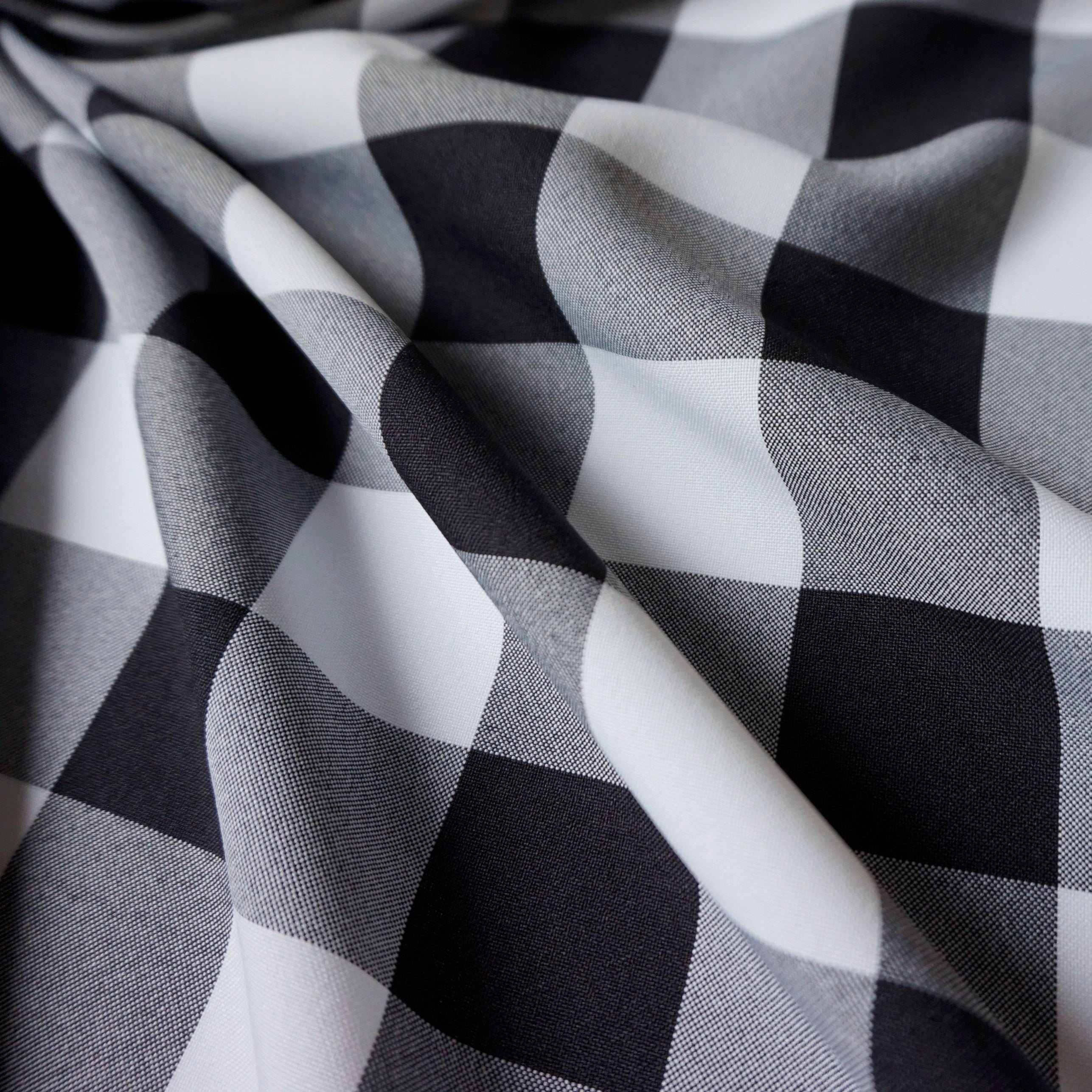 Weaved Polyester Gingham Fabric Per Metre 23 mm & 40 mm Various Colours