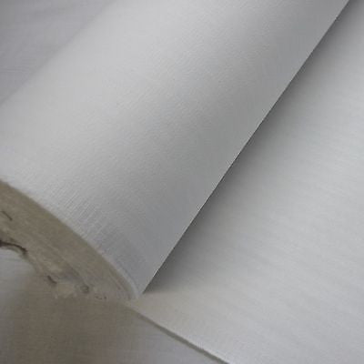 White Herringbone Cotton Coutil Fabric (Per Metre)