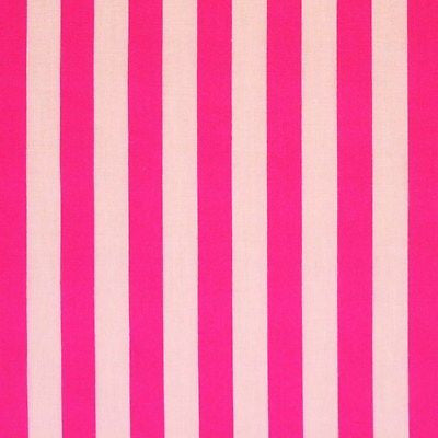White & Pink Stripe Cotton Fabric (Per Metre)