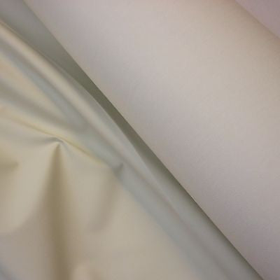 Ivory Blackout Polycotton Curtain Lining Fabric (Per Metre)