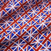 White 100% Cotton with Medium Union Jack Flags (Per Metre)
