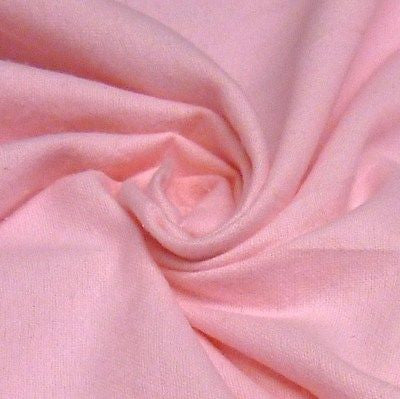 Plain Pale Pink 100% Brushed Cotton Winceyette Flannelette (Per Metre)