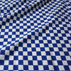 Blue or Black & White 22 mm Cotton Chef Check Fabric - 2 Colours (Per Metre)