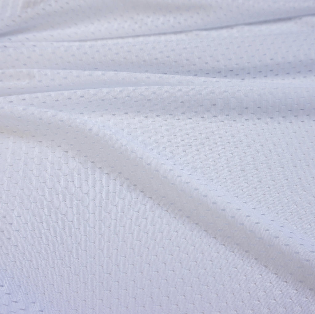 White 100% Polyester Sports Lining (Per Metre)