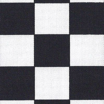 Black & White 32mm Chef Check 100% Cotton Drill Fabric (Per Metre)