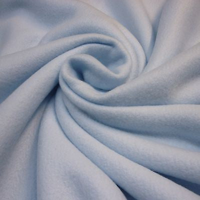 Soft Baby Blue Anti Pill Polar Fleece Fabric (Per Metre)