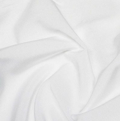 White 4 Way Stretch Lycra - Medium Weight fabric (Per Metre)