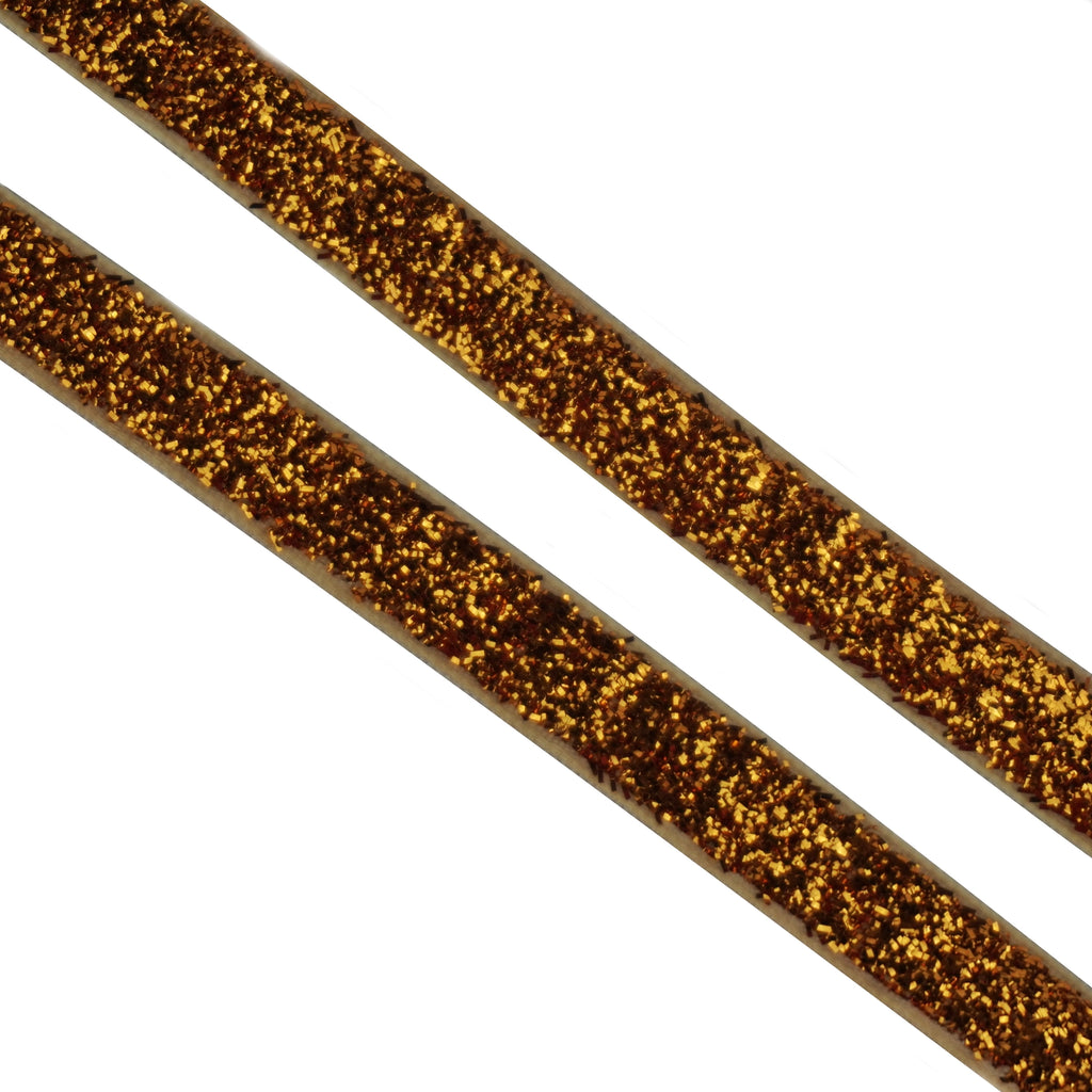 10mm Velvet Glitzy Ribbon - Various Colours (Per Metre)